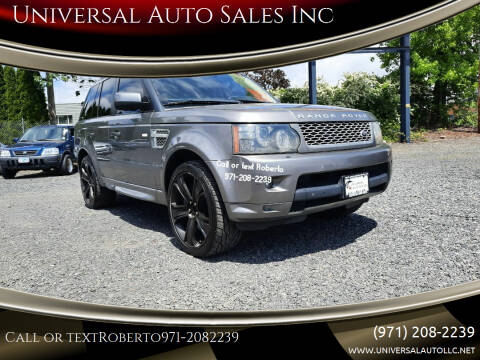 2010 Land Rover Range Rover Sport for sale at Universal Auto Sales Inc in Salem OR