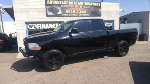 2012 RAM Ram Pickup 1500 for sale at Advantage Motorsports Plus in Phoenix AZ