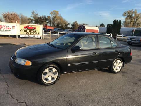 2003 Nissan Sentra for sale at Cordova Motors in Lawrence KS