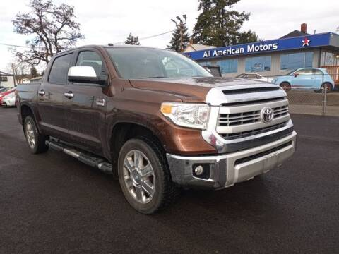 2015 Toyota Tundra for sale at All American Motors in Tacoma WA