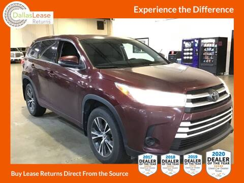 2018 Toyota Highlander for sale at Dallas Auto Finance in Dallas TX