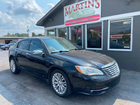 2012 Chrysler 200 for sale at Martins Auto Sales in Shelbyville KY