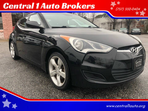 2013 Hyundai Veloster for sale at Central 1 Auto Brokers in Virginia Beach VA
