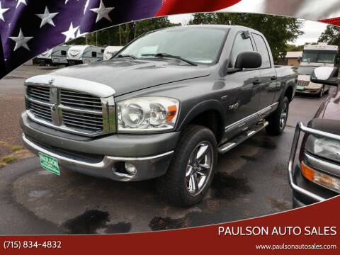 2008 Dodge Ram Pickup 1500 for sale at Paulson Auto Sales in Chippewa Falls WI