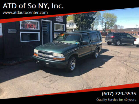 2003 Chevrolet S-10 for sale at ATD of So NY, Inc. in Johnson City NY