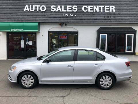 2016 Volkswagen Jetta for sale at Auto Sales Center Inc in Holyoke MA