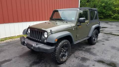 2016 Jeep Wrangler for sale at North East Locaters Auto Sales in Indiana PA