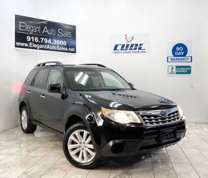 2012 Subaru Forester for sale at Elegant Auto Sales in Rancho Cordova CA