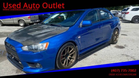 2008 Mitsubishi Lancer Evolution for sale at Used Auto Outlet in Orlando FL