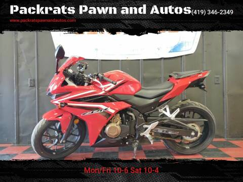 2017 Honda CBR500R for sale at Packrats Pawn and Autos in Defiance OH
