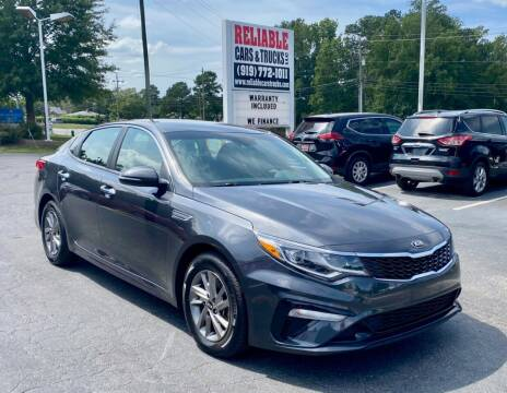 2019 Kia Optima for sale at Reliable Cars & Trucks LLC in Raleigh NC