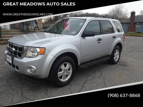 2012 Ford Escape for sale at GREAT MEADOWS AUTO SALES in Great Meadows NJ