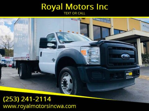 2011 Ford F-550 Super Duty for sale at Royal Motors Inc in Kent WA