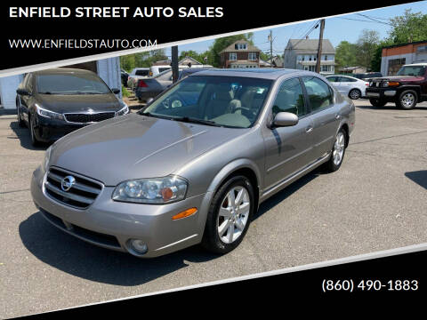 2003 Nissan Maxima for sale at ENFIELD STREET AUTO SALES in Enfield CT