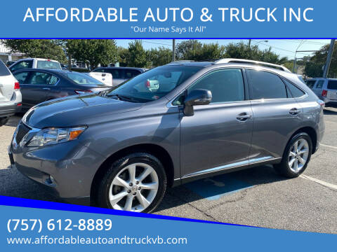 2012 Lexus RX 350 for sale at AFFORDABLE AUTO & TRUCK INC in Virginia Beach VA