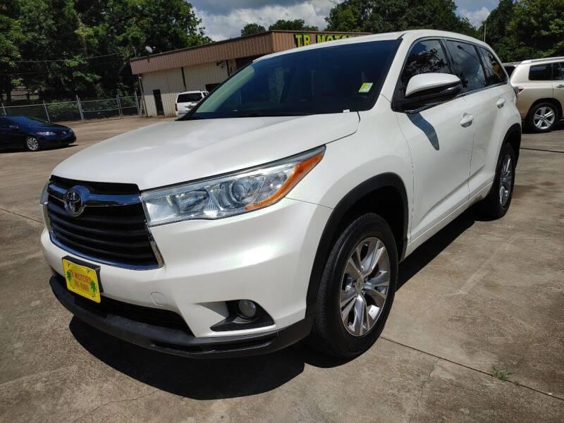 2014 Toyota Highlander for sale at TR Motors in Opelika AL