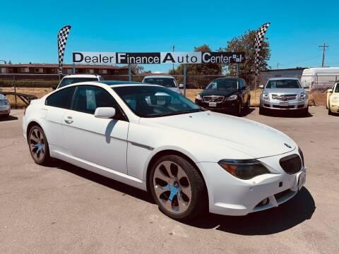 2007 BMW 6 Series for sale at Dealer Finance Auto Center LLC in Sacramento CA