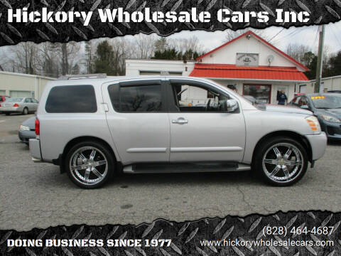 2004 Nissan Armada for sale at Hickory Wholesale Cars Inc in Newton NC