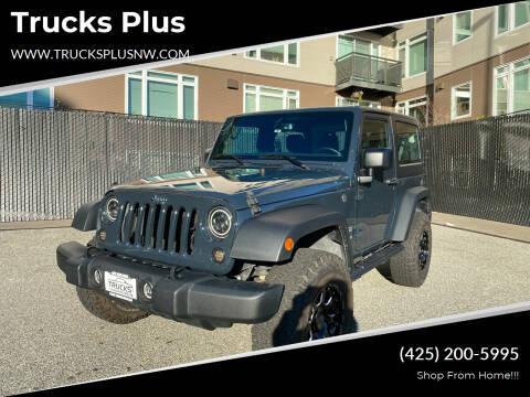 2018 Jeep Wrangler JK for sale at Trucks Plus in Seattle WA