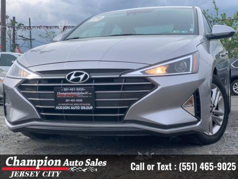 2020 Hyundai Elantra for sale at CHAMPION AUTO SALES OF JERSEY CITY in Jersey City NJ