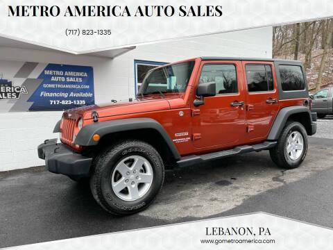 2014 Jeep Wrangler Unlimited for sale at METRO AMERICA AUTO SALES of Lebanon in Lebanon PA