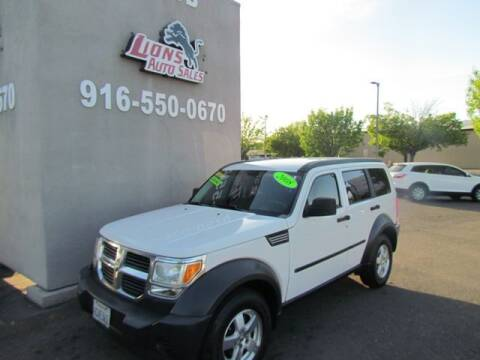 2008 Dodge Nitro for sale at LIONS AUTO SALES in Sacramento CA