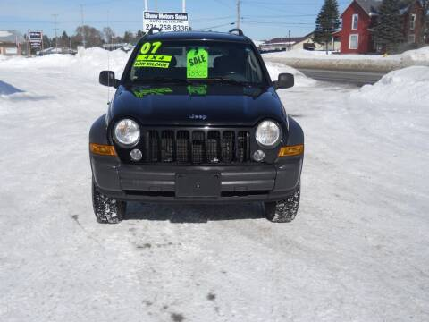 2007 Jeep Liberty for sale at Shaw Motor Sales in Kalkaska MI