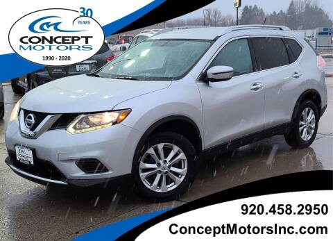 2016 Nissan Rogue for sale at CONCEPT MOTORS INC in Sheboygan WI