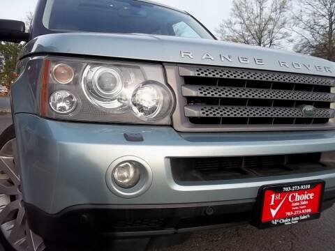 2006 Land Rover Range Rover Sport for sale at 1st Choice Auto Sales in Fairfax VA