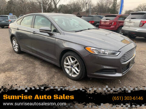 2014 Ford Fusion for sale at Sunrise Auto Sales in Stacy MN