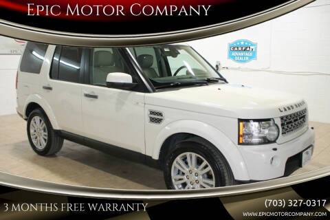 2010 Land Rover LR4 for sale at Epic Motor Company in Chantilly VA