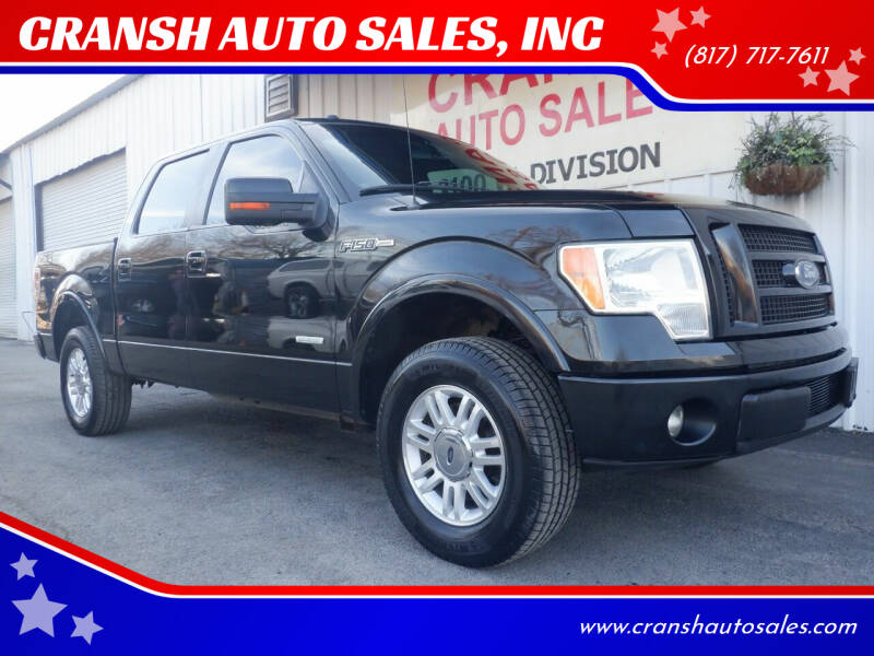 2011 Ford F-150 for sale at CRANSH AUTO SALES, INC in Arlington TX