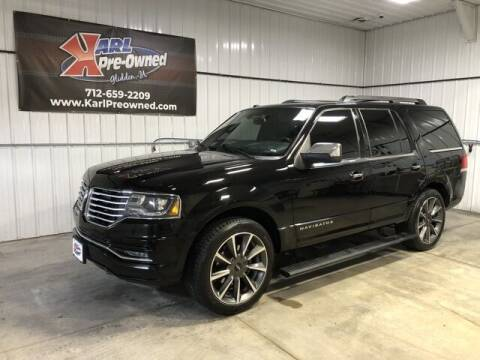 2016 Lincoln Navigator for sale at Karl Pre-Owned in Glidden IA