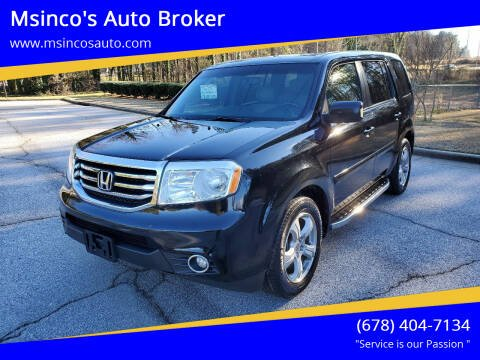 2012 Honda Pilot for sale at Msinco's Auto Broker in Snellville GA