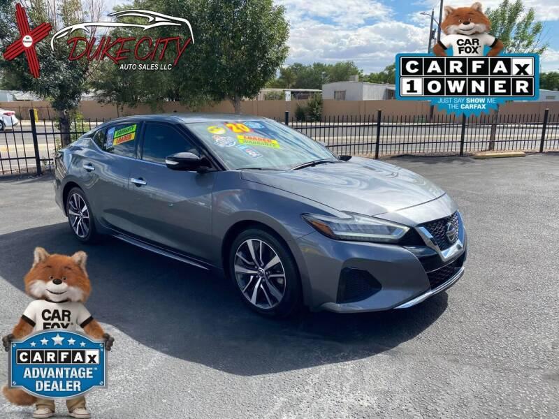 2020 Nissan Maxima for sale at DUKE CITY AUTO SALES in Albuquerque NM