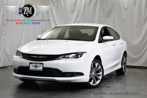 2015 Chrysler 200 for sale at ZONE MOTORS in Addison IL