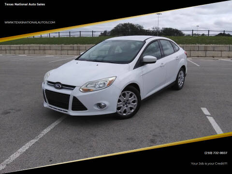 2012 Ford Focus for sale at Texas National Auto Sales in San Antonio TX