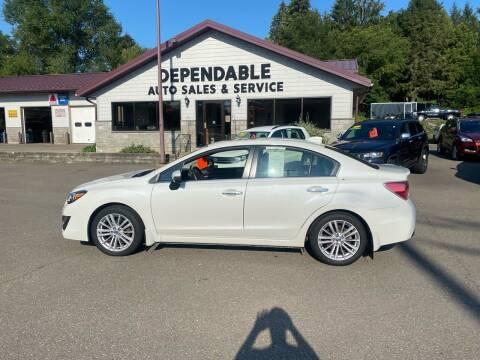 2016 Subaru Impreza for sale at Dependable Auto Sales and Service in Binghamton NY