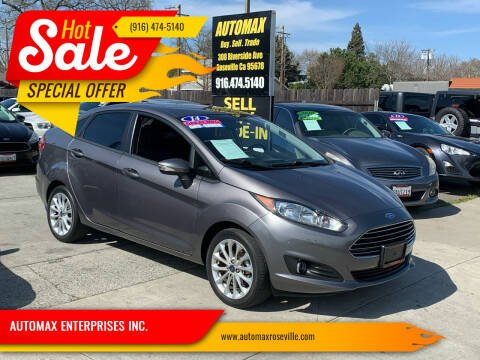 2014 Ford Fiesta for sale at AUTOMAX ENTERPRISES INC. in Roseville CA