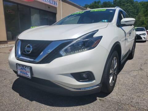2018 Nissan Murano for sale at Auto Wholesalers Of Hooksett in Hooksett NH
