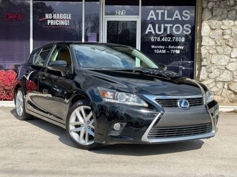 2014 Lexus CT 200h for sale at ATLAS AUTOS in Marietta GA