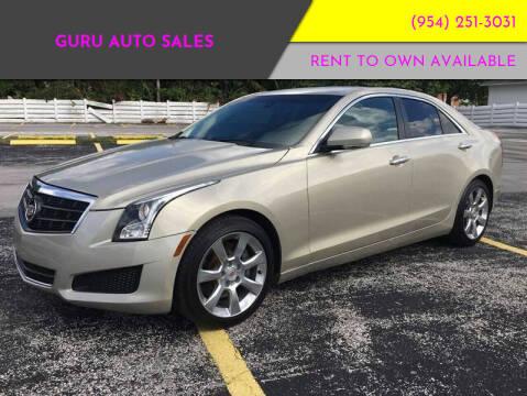 2013 Cadillac ATS for sale at Guru Auto Sales in Miramar FL