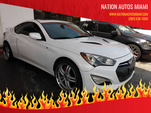 2015 Hyundai Genesis Coupe for sale at Nation Autos Miami in Hialeah FL