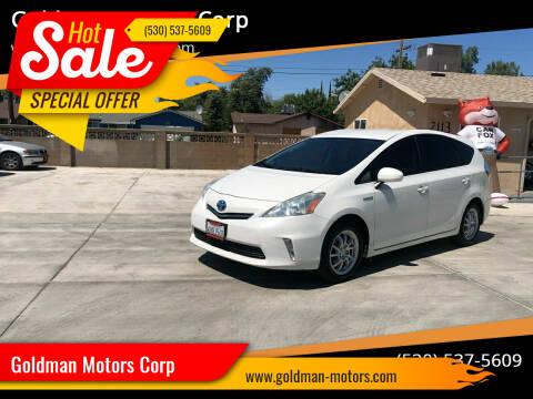 2012 Toyota Prius v for sale at Goldman Motors Corp in Stockton CA