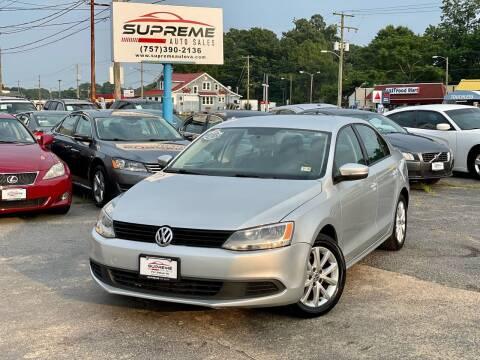 2011 Volkswagen Jetta for sale at Supreme Auto Sales in Chesapeake VA
