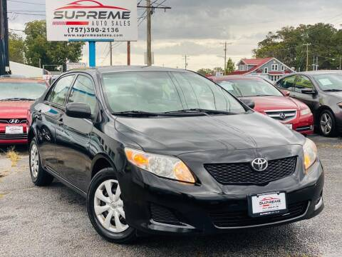 2010 Toyota Corolla for sale at Supreme Auto Sales in Chesapeake VA