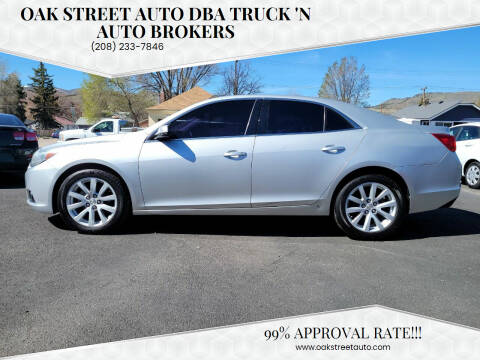 2014 Chevrolet Malibu for sale at Oak Street Auto DBA Truck 'N Auto Brokers in Pocatello ID