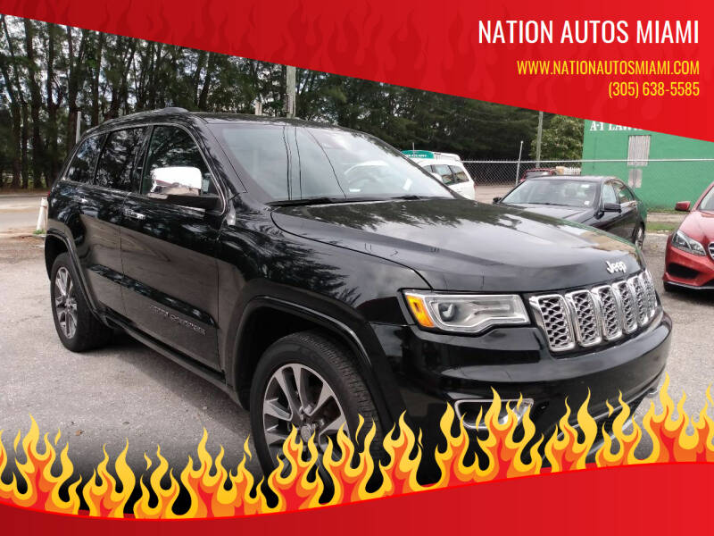 2018 Jeep Grand Cherokee for sale at Nation Autos Miami in Hialeah FL