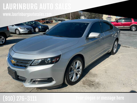 2015 Chevrolet Impala for sale at LAURINBURG AUTO SALES in Laurinburg NC