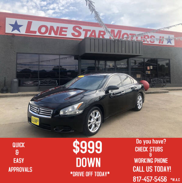 2014 Nissan Maxima for sale at LONE STAR MOTORS II in Fort Worth TX